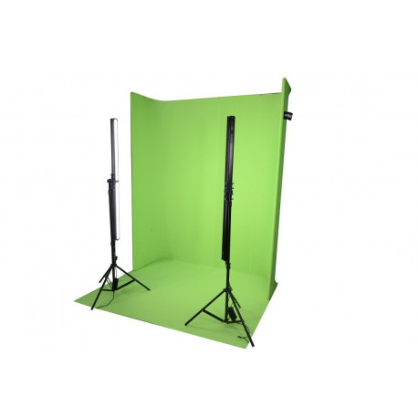 U shape background frame including 1 green cloth