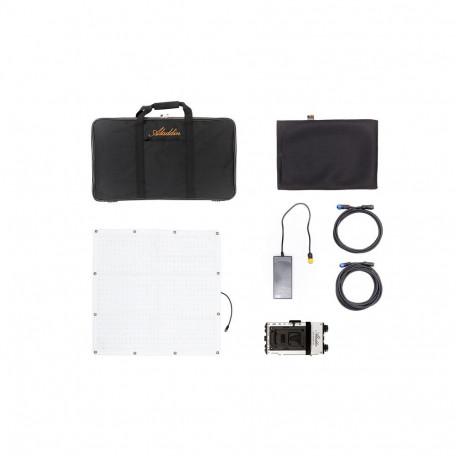 ALADDIN - FABRIC Kit (200W Bi-Color) V-Mount with Small Kit Case ALADDIN - FABRIC Kit (200W Bi-Color) V-Mount with Small Kit Cas