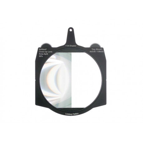 "L-4565-DIOPTER1/4-RSPLIT-50LINDSEY OPTICS - 4x5.66"" +1/4 Diopter Brilliant² Rota-Split Close-Up Lens 50%"