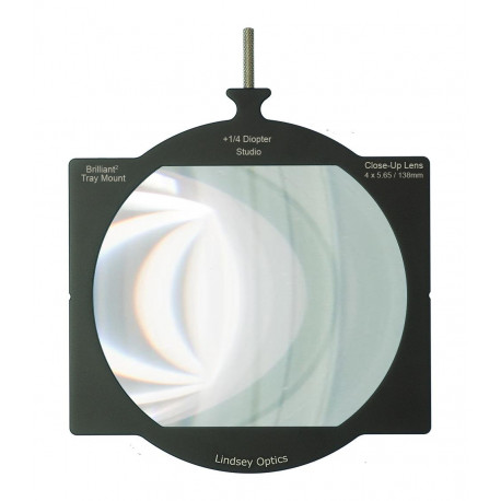 "L-4565-DIOPTER1/4-STLINDSEY OPTICS - 4""x5.65"" +1/4 Diopter Brilliant² Tray Mount Studio Close-Up Lens"