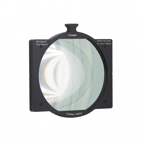 """L-4565-DIOPTER2LINDSEY OPTICS - 4""""x5.65"""" +2 Diopter Brilliant² Tray Mount Close-Up Lens"""