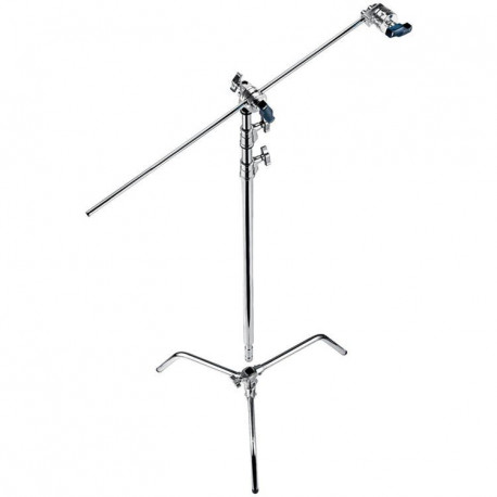 """Muraro - 20"""" C stand W/turtle base with head and arm steel chrome"""