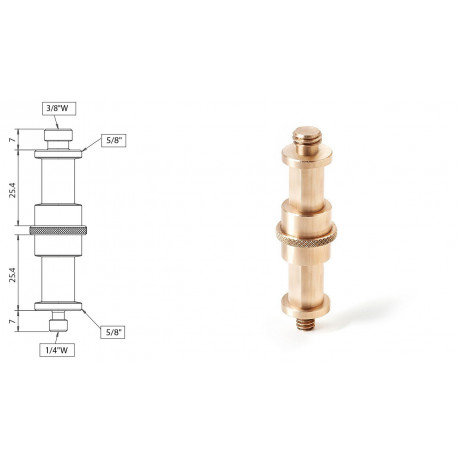 Muraro - Double 5/8? Adapter with 1/4? and 3/8? thread