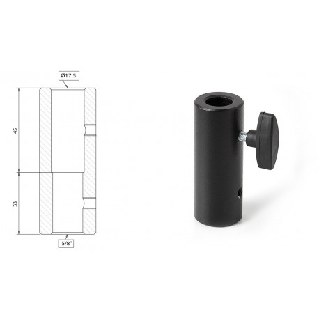"Muraro - 5/8"" - 17,5 mm Adapter"