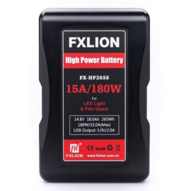 FXLION - 265Wh High Power Vmount battery, 14,8V. 15A/USB/DTAPE